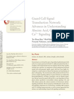 Guard Cell Signal Transduction Network - Advances in Understanding Abscisic Acid, CO2, and Ca2+ Signaling