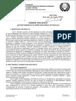 Norme Admitere Doctorat 2018