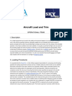 Aircraft Load and Trim