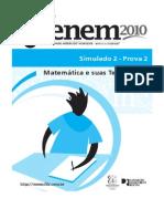 Simulado2 Enem 2010 - Matemática e suas Tecnologias