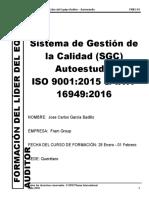 Self-Study IATF 16949 2016