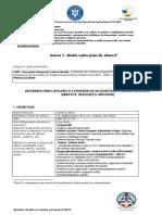 Anexa 1 Model Cadru Plan de Afaceri