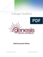 Position Profile - Genesis Development - CEO