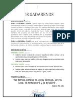 Lección 1 - Los Gadarenos