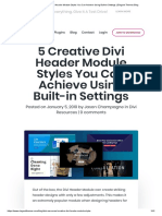 5 Creative Divi Header Module Styles You Can Achieve Using Built-In Settings _ Elegant Themes Blog