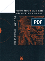 Levinas E. - De Otro Modo Que Ser (2003)