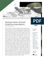 2009 09 26 Mitologia Semita El Exodo Evidencias Arqueologicas (Lampuzo.wordpress)