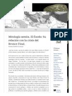 2013 09 24 Mitologia Semita El Exodo Su Relacion Con La Crisis Del Bronce Final (Lampuzo.wordpress)