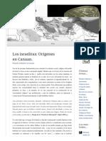 2011 03 06 Los Israelitas Origenes en Canan (Lampuzo.wordpress)