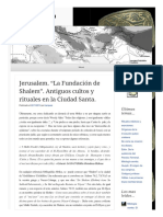 2013 11 22 Jerusalem La Fundacion de Shalem Antiguos Cultos y Rituales en La Ciudad Santa (Lampuzo.wordpress)