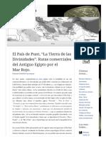 2014 04 03 El Pais de Punt La Tierra de Las Divinidades Rutas Comerciales Del Antiguo Egipto Por El Mar Rojo (Lampuzo.wordpress)