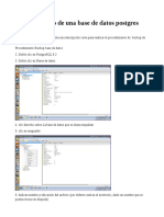 Backup rápido de una base de datos postgres con pgAdmin