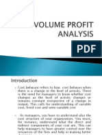 volume Profit analysis