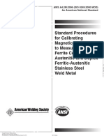 AWS A4.2M 2006 Standard Procedures for Calibrating Magnetic Instruments to Measure the Delta Ferrite Content of Austenitic and Duplex Ferritic-Austenitic Stainless Steel Weld Metal.pdf