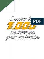 Como ler 1000 palavras por minuto - Juarez Alves