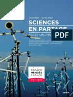 Programme de l'Espace Mendès France de janvier à juin 2019