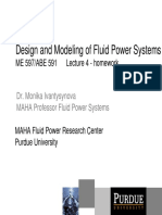 Design & Modelling of Fluid Power Systems