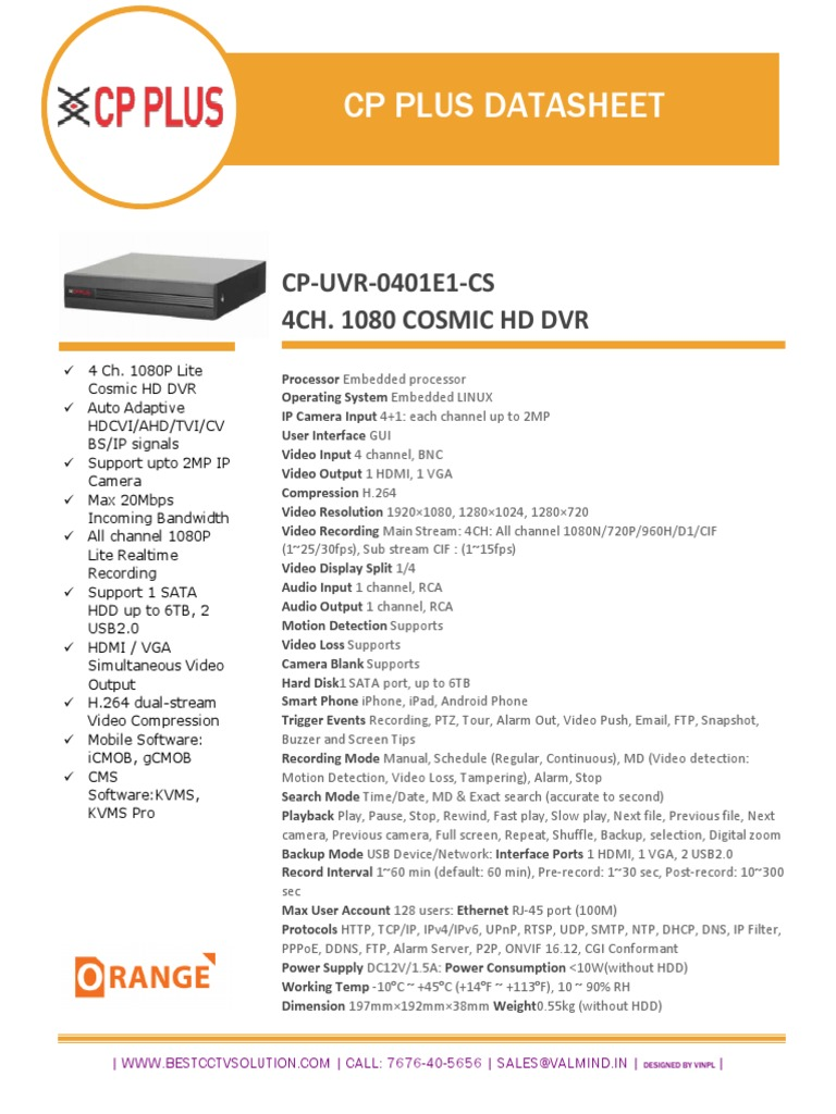 CPPLUS dvrS | Digital Video Recorder | Hdmi
