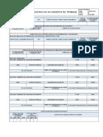 F-SSOMA-024 Registro de Accidente de Trabajo Ver.00