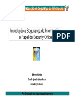 Introd. a SI e o Papel do Security Officer