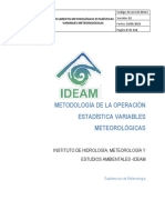 Documento Metodologico Variables Meteorologicas