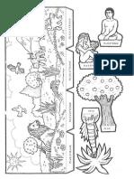 Dibujo Adan y Eva en El Paraiso y Colorea Cosas de D y h (1)
