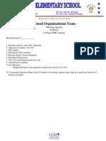 SOT Mtg Agenda 1-08-19