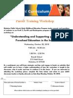 Tools of the Mind Parent Workshop 10 20 10