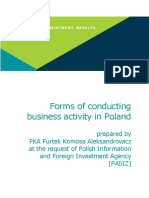 Forms of Conducting Business Activity in Poland(1)