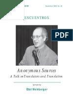 A talk on translation