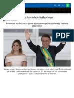 Bolsonaro Privatizaciones
