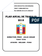Plan Anual 2016 - Julio Cesar