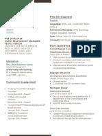 Warners Resume PDF
