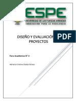 For2. Diseño y Evaluación de Proyectos