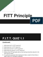 FITT Principle Practice Quiz