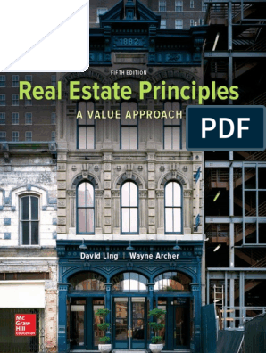 Real Estate Principles 5th Edition | Real Estate Appraisal