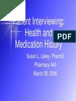 Patient Interviewing 440 2006