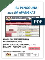 Manual Pengguna Sistem Epangkat Modul Pengetua Guru Besar Ketua Bahagian