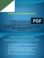 Fokus Pelatihan Dan Pendampingan k13 Tahun 2018