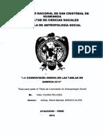 Tesis Cosmovisión Andina en Las Tablas de Sarhua