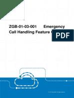 GERAN ZGB-01!03!001 Emergency Call Handling Feature Guide