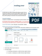 Designing and Creating Your Poster Publisher Setup and PDF Directions 10.3.1 Updated11.17.15