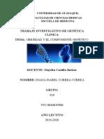 Trabajo Investigativo Obesidad y componente genético