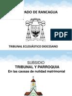 Subsidio Tribunal y Parroquia