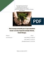 Plan de Manejo Sustentable Para El Aprovechamiento Forestal