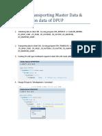 Steps Tranporting Master Data.docx