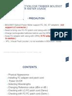 Work Instruction for TriBrer BOU350T Optical Power Meter