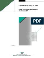 Schneider Electric - Cahier Technique 145 - Etude Thermique Des Tableaux Électriques BT