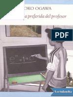La formula preferida del profesor - Yoko Ogawa.pdf