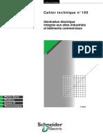 Schneider Electric - Cahier Technique 196 - Génération Électrique Intégrée Aux Sites Industriels Et Bâtiments Commerciaux
